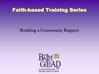 Faith-based Training Series