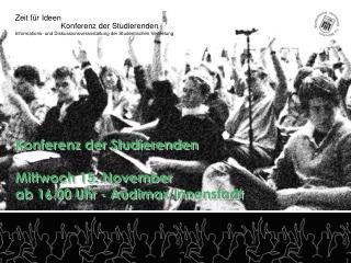 Konferenz der Studierenden