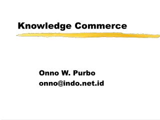 Knowledge Commerce