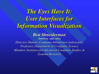 Human-Computer Interaction Laboratory   Interdisciplinary research community