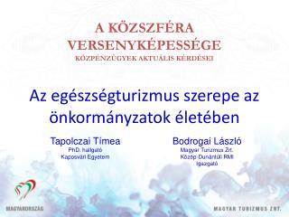 Bodrogai László Magyar Turizmus Zrt.  Közép-Dunántúli RMI Igazgató