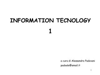 INFORMATION TECNOLOGY 1