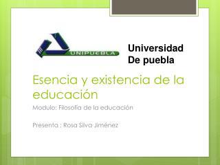 Esencia y existencia de la educación