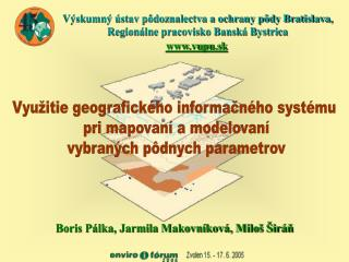 Využitie geografického informačného systému  pri mapovaní a modelovaní