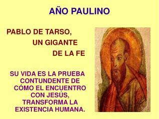 AÑO PAULINO