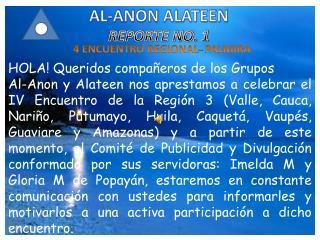 AL-ANON ALATEEN REPORTE NO. 1