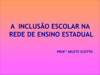 A  INCLUS O ESCOLAR NA  REDE DE ENSINO ESTADUAL