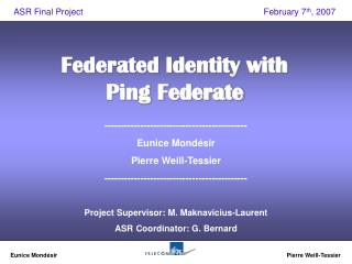 Federated Identity with Ping Federate