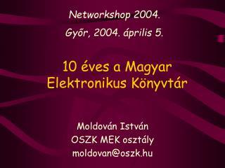 10 éves a Magyar Elektronikus Könyvtár