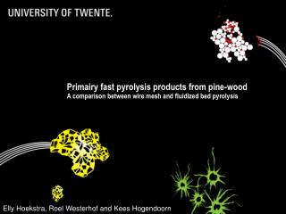Primairy fast pyrolysis products from pine-wood