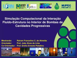 Mestrando: Rairam Francelino C. de Almeida Orientador: Prof. João Alves de Lima