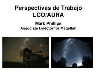 Perspectivas de Trabajo LCO/AURA