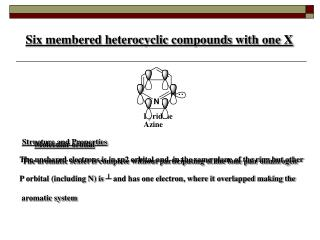 Six membered heterocyclic compounds with one X