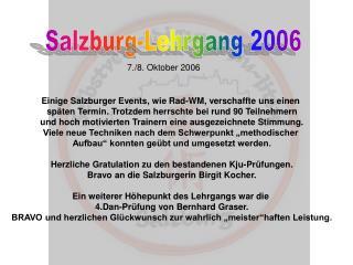 Salzburg-Lehrgang 2006