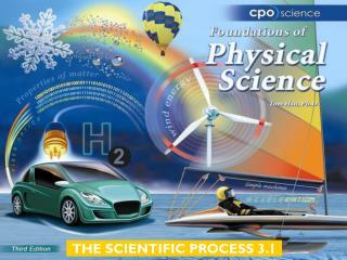 THE SCIENTIFIC PROCESS 3.1