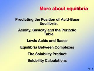 More about equilibria