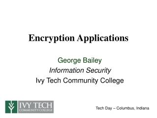 Encryption Applications