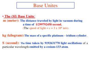 Base Unites