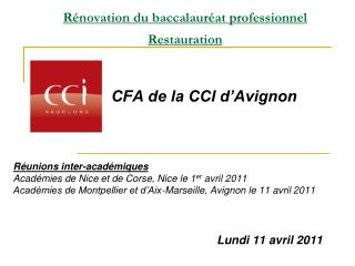R novation du baccalaur at professionnel  Restauration