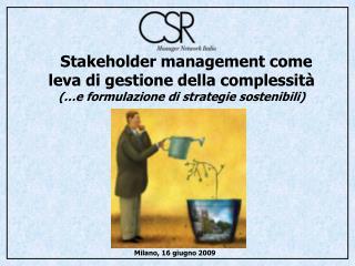 Stakeholder management come  leva di gestione della complessità