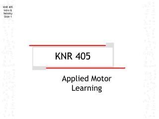 KNR 405