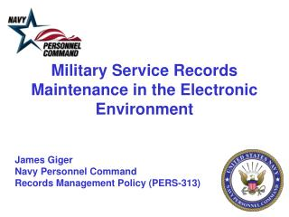 Military  Service  Records Maintenance in the Electronic Environment