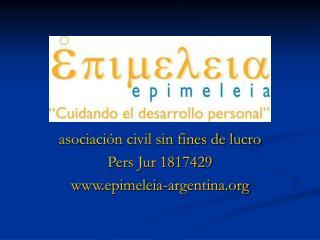 asociación civil sin fines de lucro Pers Jur 1817429 epimeleia-argentina