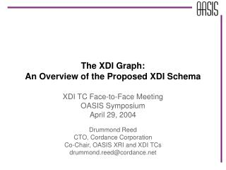 The XDI Graph: An Overview of the Proposed XDI Schema