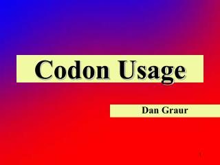 Codon Usage