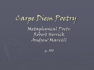 Carpe Diem Poetry