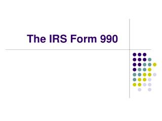 The IRS Form 990