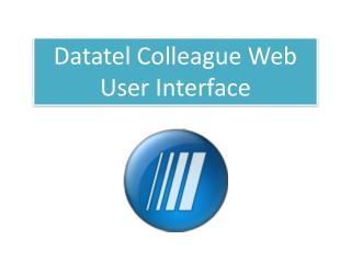 Datatel Colleague Web User Interface