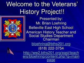 Welcome to the Veterans' History Project!!
