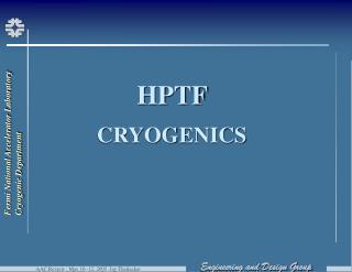 HPTF CRYOGENICS
