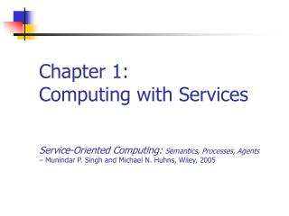 Chapter 1: Computing with Services