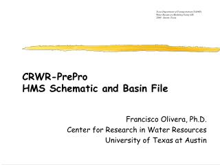 CRWR-PrePro HMS Schematic and Basin File