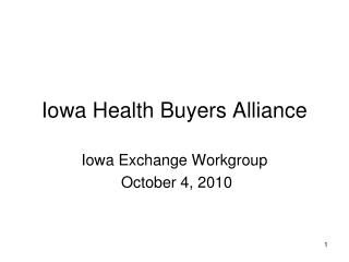 Iowa Health Buyers Alliance