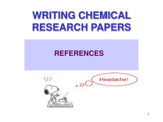 WRITING CHEMICAL RESEARCH PAPERS