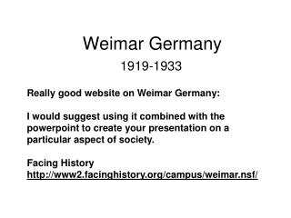 Weimar Germany