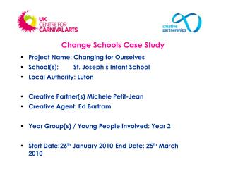 Project Name: Changing for Ourselves School(s):  	St. Joseph's Infant School