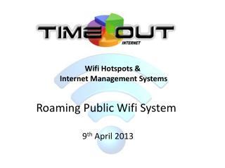 Roaming Public Wifi System