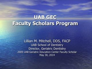 UAB GEC Faculty Scholars Program