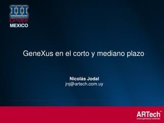 Nicolás Jodal jnj@artech.uy