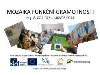 MOZAIKA FUNKČNÍ GRAMOTNOSTI reg. č. CZ.1.07/1.1.02/03.0044