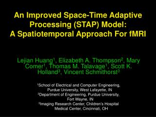 An Improved Space-Time Adaptive Processing (STAP) Model:  A Spatiotemporal Approach For fMRI