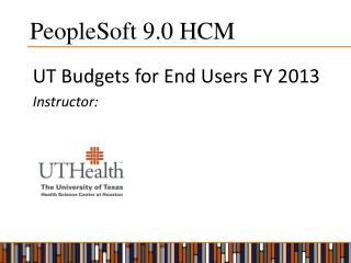 PeopleSoft 9.0 HCM