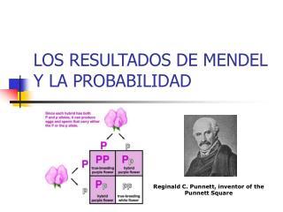 LOS RESULTADOS DE MENDEL Y LA PROBABILIDAD