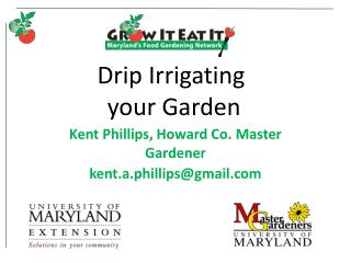 Drip Irrigating  your Garden