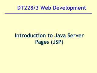 DT228/3 Web Development