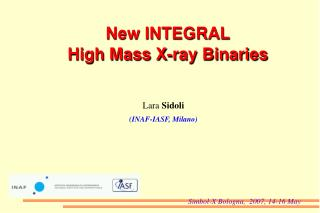 New INTEGRAL  High Mass X-ray Binaries